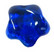 Glass Star, Blue, 1 pc
