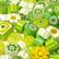 Millefiori, Vihreät sävyt, 50 g