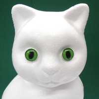 Cats Eyes, 2 pcs, 14mm, Plastic Material