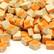Mikromosaiikki, 5x5x3 mm, Orange, 50 g