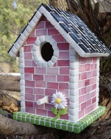 Birdhouse, 17 cm, two parts