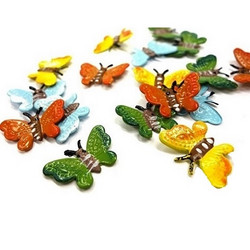 Little metal butterflies, 16 pcs