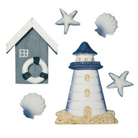 House on the beach, 2-8 cm, 6 pcs