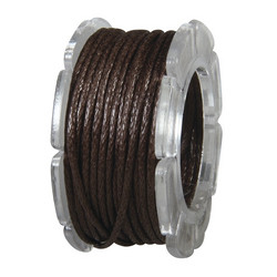 Cotton cord, 5 m, brown, waxed