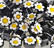 Millefiori, Black-Yellow Flower, 50 g
