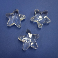 Acrylic Facet star, 3,5 cm, 3 pc