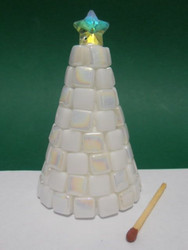 A sweet little Christmas tree, white, DIY