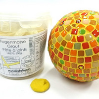 Grout, Cream yellow 500 g, Mosaikstein