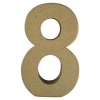 Papier-mâché number, 15x9,4x3 cm, 8