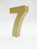 Papier-mâché number, 15x9,4x3 cm, 7