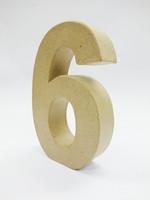 Papier-mâché number, 15x9,4x3 cm, 6