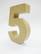 Papier-mâché number, 15x9,4x3 cm, 5