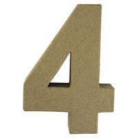 Papier-mâché number, 15x9,4x3 cm, 4