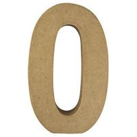 Papier-mâché number, 15x9,4x3 cm, 0