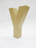 Papier-mâché letter, 15x10,5x3 cm, Y