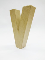 Papier-mâché letter, 15x10,5x3 cm, V