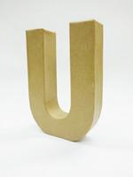 Papier-mâché letter, 15x10,5x3 cm, U