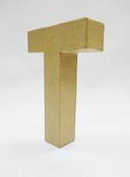 Papier-mâché letter, 15x10,5x3 cm, T
