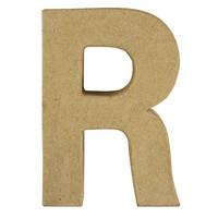 Papier-mâché letter, 15x10,5x3 cm, R