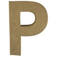 Papier-mâché letter, 15x10,5x3 cm, P
