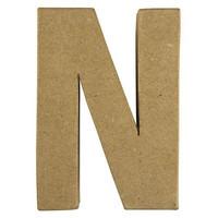 Papier-mâché letter, 15x10,5x3 cm, N