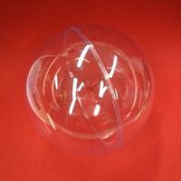 Muovipallo, kaksi osaa, 20 cm, kirkas