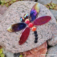 Dragonfly, Red-Black, DIY