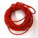 Leather cord, 5 m, red