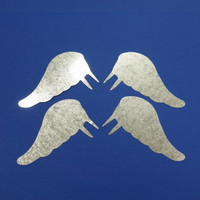 Metal angel wings, 10 cm