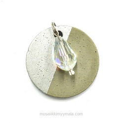Glass Polished bead Drop, moonstone