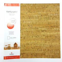 Cork-paper: Stripes, self-adhesive, 024
