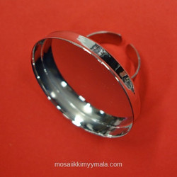 Ring base, round, 35 mm, silver