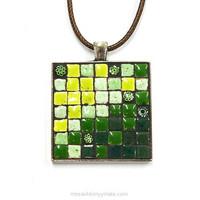Halsband, fyrkantig, grön, inspiration
