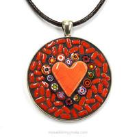 Halsband, rund, röd, inspiration