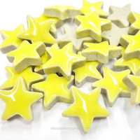 Ceramic Stars, Yellow, 20 g