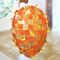 Acrylic mosaic, Glitter Orange, 50 g
