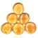 XL-Pärlor, Amber, 6 st