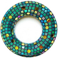Mosaic Door Decoration, Green, DIY