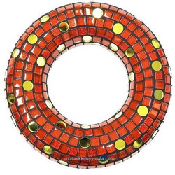 Mosaic door decoration, red, DIY