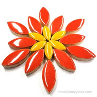 Ceramic leaves, Red, 50 g