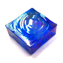 Form Glass, Square, Thunder Blue, 20 pcs
