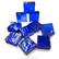 Form Glas, Fyrkant, Thunder Blue, 20 st