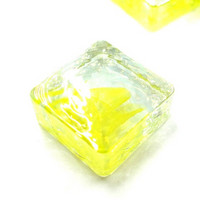Form Glass, Square, Citron, 20 pcs