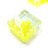 Form Glas, Fyrkant, Citron, 20 st