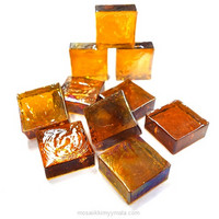 Form Glas, Fyrkant, Amber, 20 st