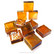Form Glass, Square, Amber, 20 pcs