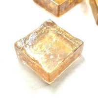 Form Glass, Square, Light Peach, 20 pcs