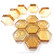 Form Glas, Hexagon, Light Amber, 12 st