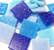 Joy Glass, Blue Mix, 2x2 cm, 1 kg
