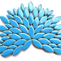 Ceramic leaves, Thalo Blue, 50 g